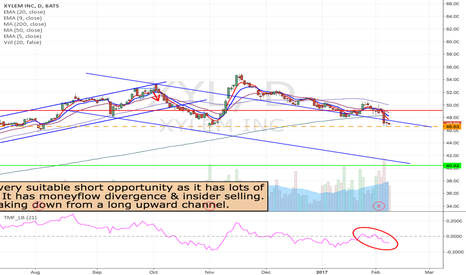 XYL: XYL - inverted flag formation short from $46.63 to $40 area.