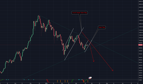 BTCUSD: Bear flag within bear flags!