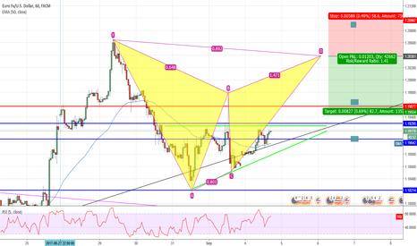 EURUSD: EUR/USD Potential Bearish Bat (1h)