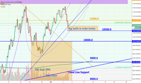 BTCUSDT: Will bitcoin bounce off from the Trend Line?