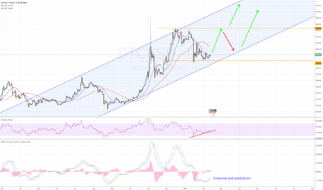 BTCUSD: Possible Upwards-trend approaching after correction