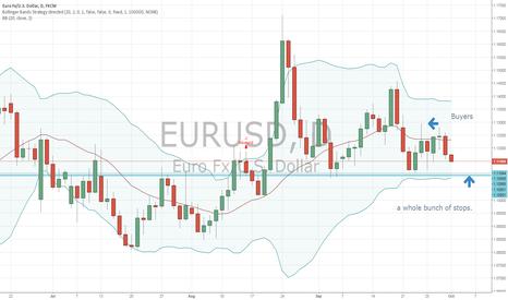 EURUSD: EURO stop hunt on day chart