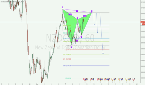 NZDCAD: nzdcad 1h bearllish bat pattern