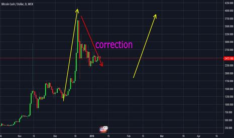 BCHUSD: BitcoinCash correction mode