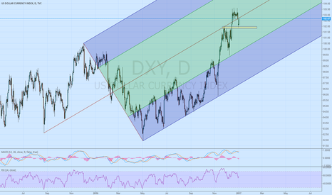 DXY: USD Index daily with pitchfork