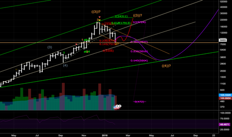BTCUSD: Wave 4 of (5) of ((3)) could be finished. Wave 5 ahead to 30K