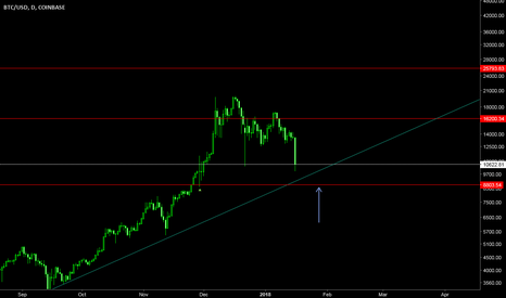 BTCUSD: Possible support for Bitcoin.
