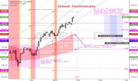 AAPL: (D) Good Technicals. No rush.