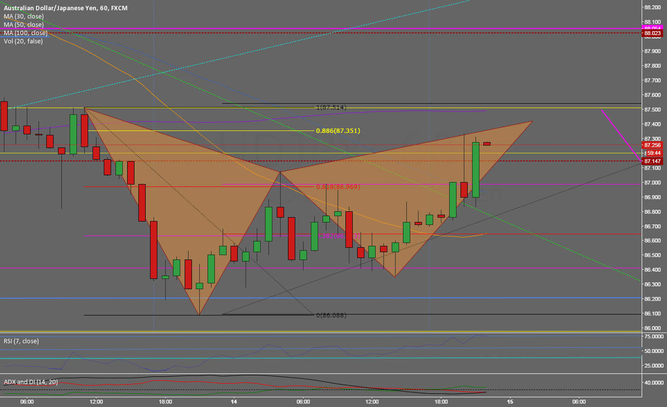 Gartley setup in the Bull retracement