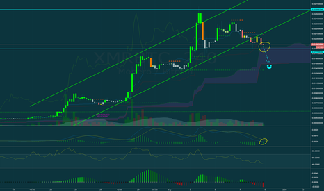 XMRBTC: XMR touching the top of the kumo cloud, about to crash?!