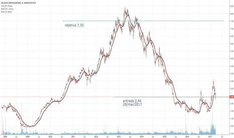 HBOR3: compra hoje de 2.500.000 açoes hbor3 visando período de 5 anos.