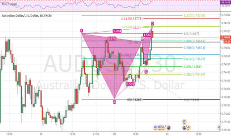 AUDUSD: audusd butterfly pattern - sell