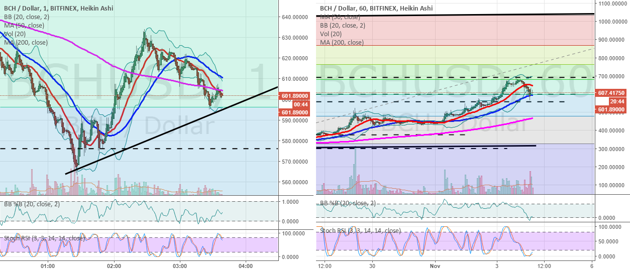 BCHUSD 1 min chart