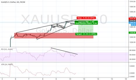 XAUUSD: Gold rising wedge