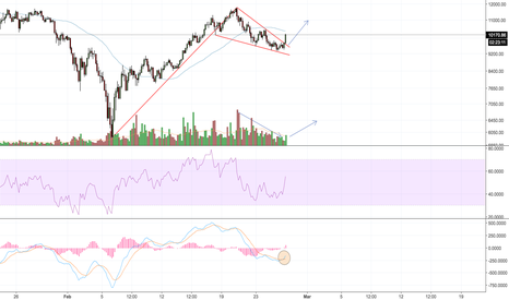BTCUSD: BTC/USD bull flag, break out likely to confirm