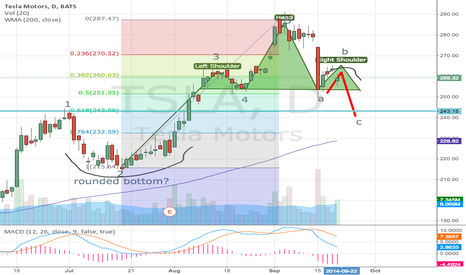 TSLA: TSLA- Elliot Wave- Head and Shoulders?- FIb Retracements