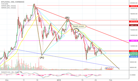 BTCUSD: BEARISH WOODS UPDATE : Elliot Waves ABC Correction in progress ?