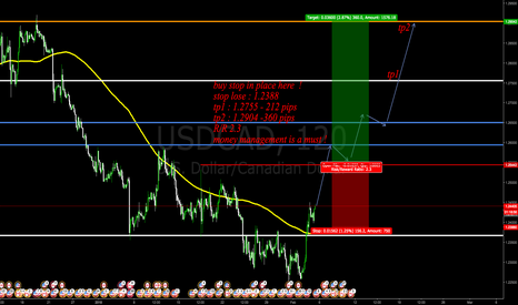 USDCAD: buy stop in place here guys !