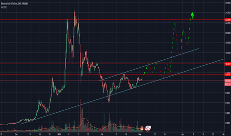 BNBUSDT: BNB Looking bullish = Potential trend line?