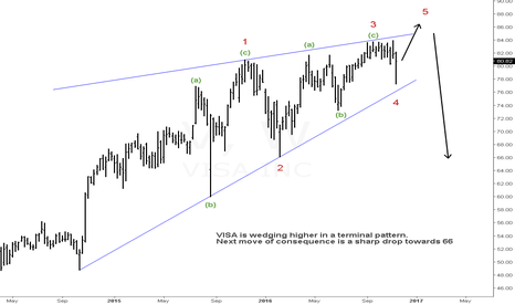 V: Visa in a terminal phase of a huge bull advance
