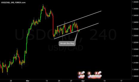 USDCAD: USDCAD break flag H4