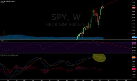 SPY: Weekly bearish divergence..