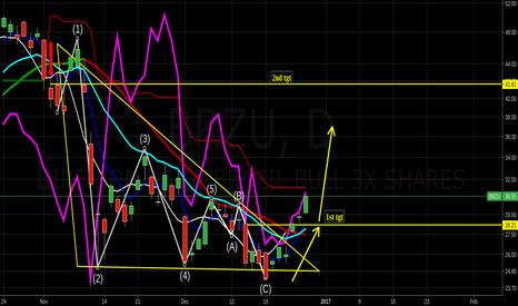 BRZU: 1st target reach near term resistances approaching $ewz