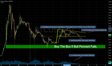 BTCUSD: Bull Pennant After Silk Road Bitcoin Auction