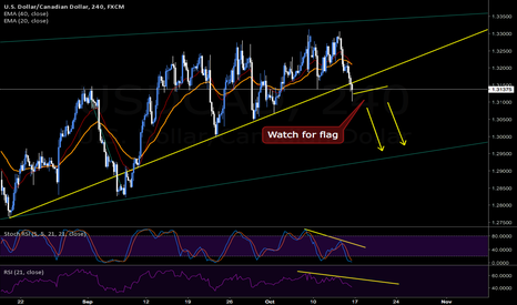 USDCAD: USDCAD Short Opportunity - 4hr Flag