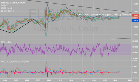 EURUSD: Minor resistance broken and formed support, new level for longs.
