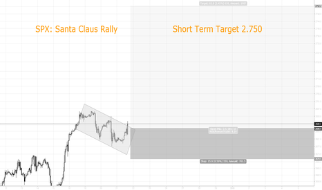 "SPX500USD: ""Santa Claus Rally"" - Short Term Target 2.750"