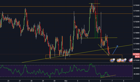 AUDUSD: AUD/USD structure zone, RSI div, possible action, hourly