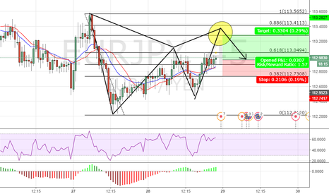 EURJPY: Potential Gartley with a flag on the C leg