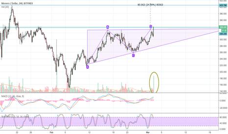 XMRUSD: XMR/USD - Triangle pattern was broken