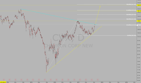 CVX: Bullish oil.  Long oil companies