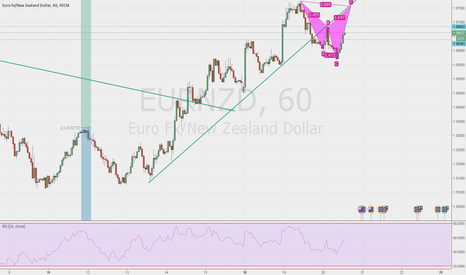EURNZD: possible pattern in formation and possible pull back on trandlin