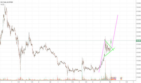 BCHUSD: Bitcoin Cash continuation pattern