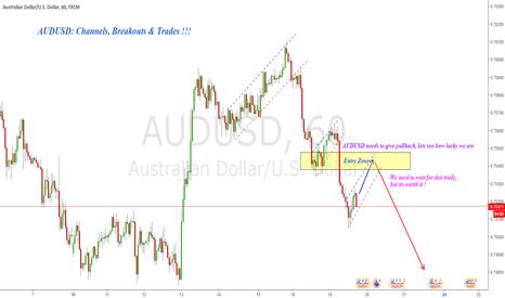 AUDUSD: AUDUSD : Channels,Breakouts & Trades !