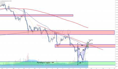 USDJPY: Bearish Bat with False Break