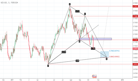 NZDUSD: NZD USD  D1 bullish bat