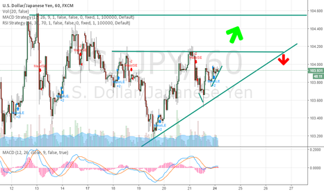 USDJPY: maybe a lil long then wait for confirmation .
