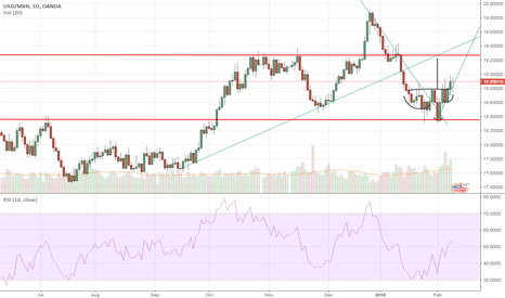 USDMXN: Shoulder Head Shoulder, Long USDMXN