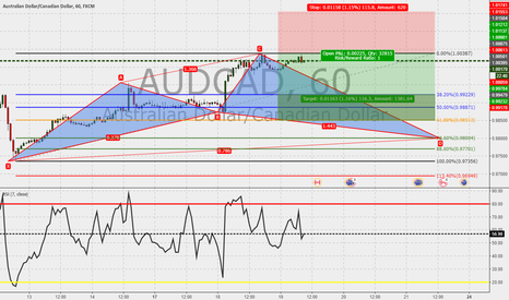 AUDCAD: AUDCAD 60m : Cypher in the make.
