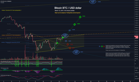 BTCUSD: Bitcoin is following my path this week, can Bulls break 10k?