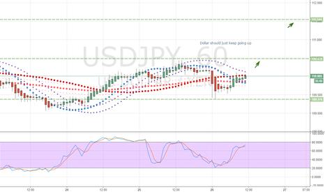 USDJPY: Dollar should just keep going up