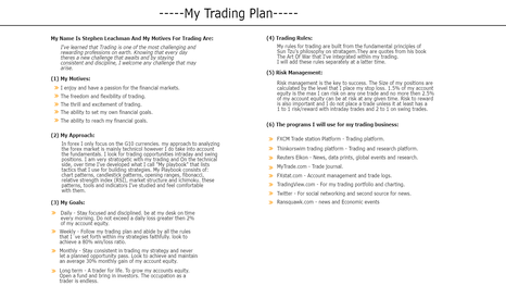 ZMWCHF: MY TRADING PLAN (THE FOUNDATION TO MY TRADING)