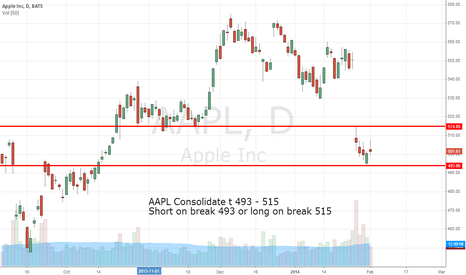 AAPL: AAPL Consolidate at 493 - 515