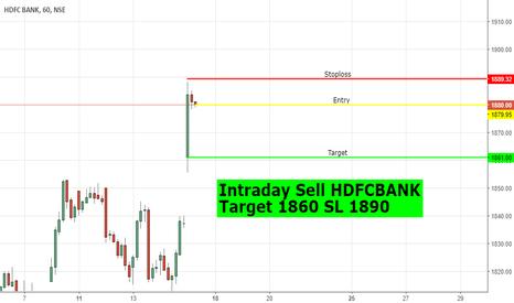 HDFCBANK: Short HDFCBANK Intraday