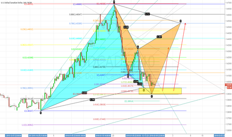 USDCAD: Gartley Pattern and Cypher Pattern