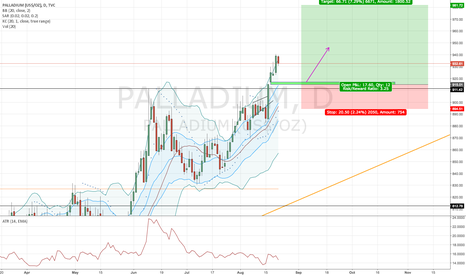 PALLADIUM: Palladium, daily: Long, Window continuation pattern